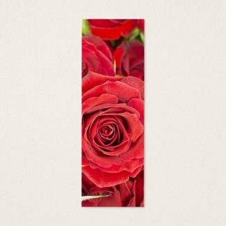 Beautiful red roses mini business card