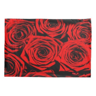 Beautiful Red Roses Still Life Airbrush Art Pillowcase