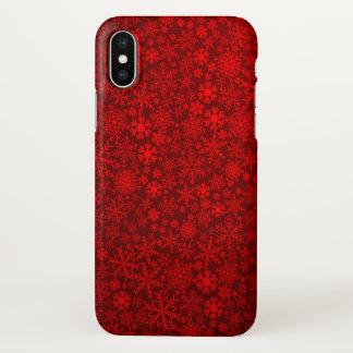 beautiful red snowflake art iPhone x case