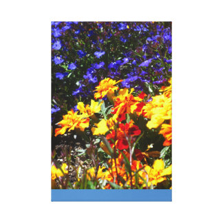 Beautiful Red Yellow Blue Flower Gallery Wrap Canvas