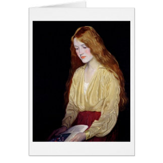 Beautiful Redhead, Greeting Card