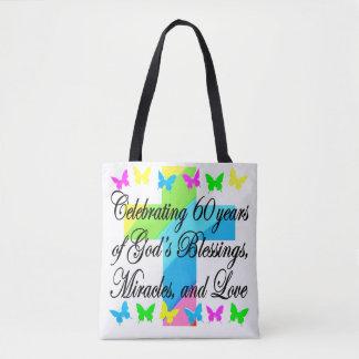BEAUTIFUL RELIGIOUS 60TH BIRTHDAY TOTE BAG