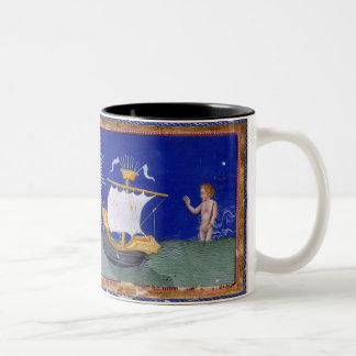 Beautiful Religious Mug of Dante Before the Virgin