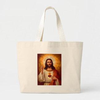 Beautiful religious Sacred Heart of Jesus image Tote Bag