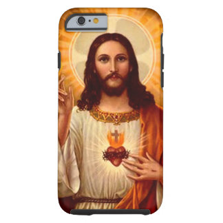 Beautiful religious Sacred Heart of Jesus image Tough iPhone 6 Case