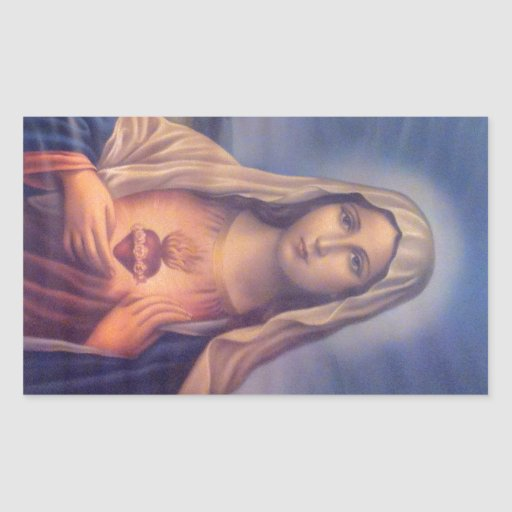 Beautiful Religious Sacred Heart of Virgin Mary Sticker