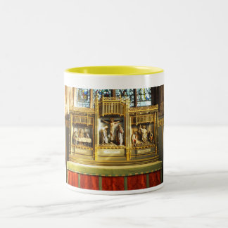 Beautiful religious scenes Two-Tone coffee mug
