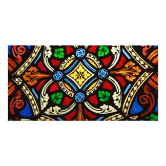 Beautiful Religious Stained Glass Photo Greeting Card