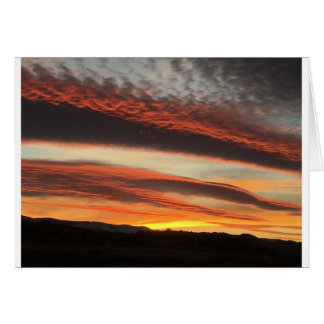 Beautiful Reno Desert Sunset Card