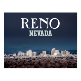 Beautiful Reno Skyline Postcard