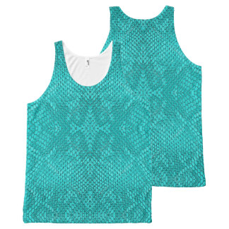 Beautiful Reptile turquoise snake All-Over Tank All-Over Print Tank Top