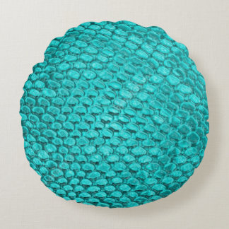 Beautiful Reptile turquoise snake texture Pillow