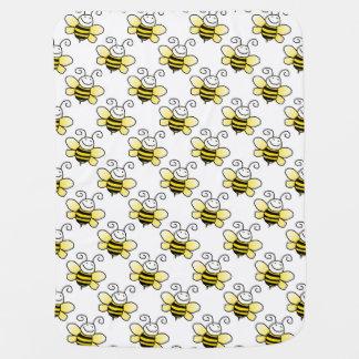 Beautiful Retro Bumble Bee Custom Baby Blanket