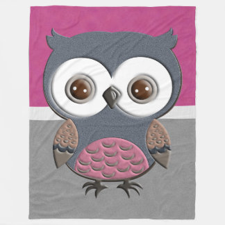 Beautiful Retro Owl Fleece Blanket
