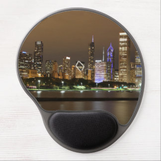 Beautiful river side city view in the night gel mouse pad