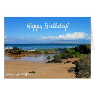 Beautiful Rocks on a Maui Beach Greeting Card