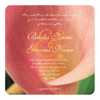 Beautiful Romantic Cala Lily Wedding Invitation