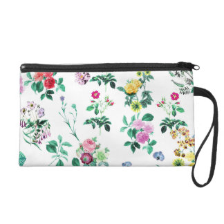 Beautiful romantic Girly Flower Design Wristlet