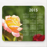 Beautiful rose 2015 calendar mouse mat