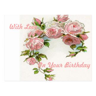 Beautiful Rose Design Postcard