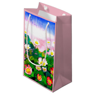 Beautiful Rose Garden Watercolour Gift Bag