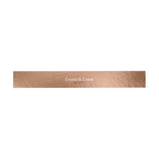 Beautiful Rose Gold Foil-Effect Invitation Belly Band