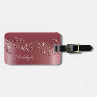 Beautiful Rose Gold Luggage Tag