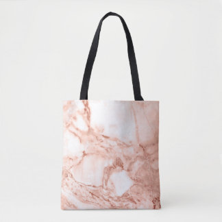 Beautiful Rose Gold Sparkle Marble Pattern Tote Bag