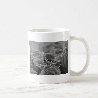 Beautiful Rose in Black and White Coffee Mugs