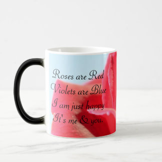 Beautiful Rose & Love Poem Morphing Mug