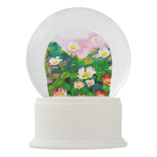 Beautiful Rosegarden Watercolour Snow Globe