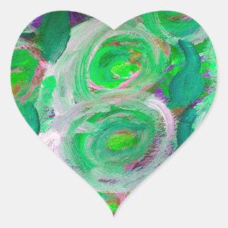 Beautiful Roses Heart Sticker
