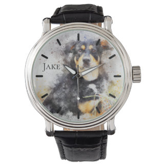 Beautiful Rottweiler Custom Personalized Watch