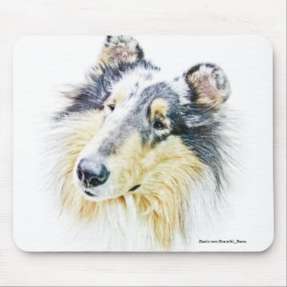 Beautiful Rough Collie dog art Mouse Pad