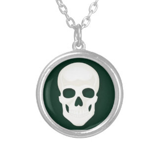 Beautiful round sterling silver plated necklace round pendant necklace