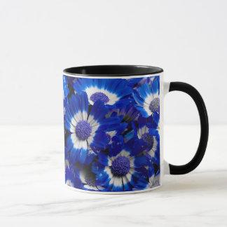 Beautiful Royal Blue Cineraria Flowers Mug