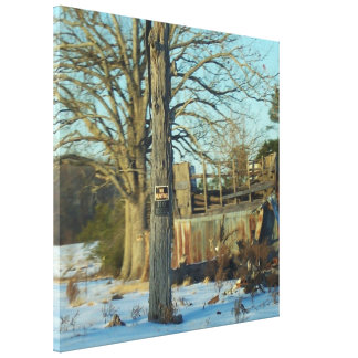 Beautiful Rural Snow Scene Gallery Wrapped Canvas