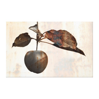 Beautiful rustic and metallic apple for decoration canvas print