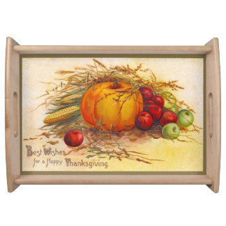 Beautiful Rustic and Vintage Thanksgiving Serving Trays