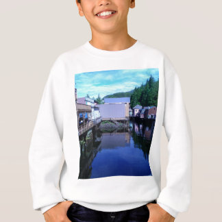 Beautiful Rustic Backview Reflections in Creek Sweatshirt