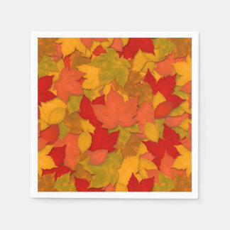 Beautiful Rustic Fall or Autumn Leaves Paper Napkins