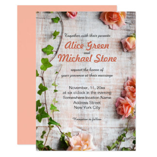 Beautiful rustic floral arrangement card