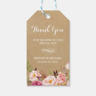Beautiful Rustic Flowers Kraft | Wedding Thank You