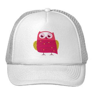 Beautiful Rustic Pink Custom Owl Cap