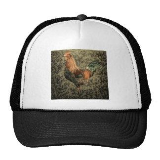 Beautiful rustic rooster design cap
