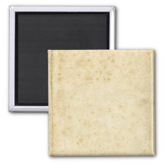 Beautiful Rustic Stained Antique Blank Old Paper Square Magnet