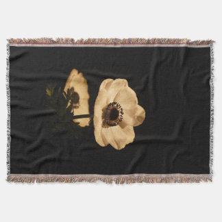Beautiful Rustic Vintage Floral Throw Blanket