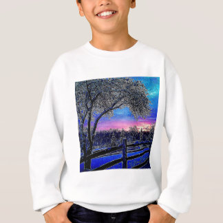 Beautiful rustic winter scene sweatshirt