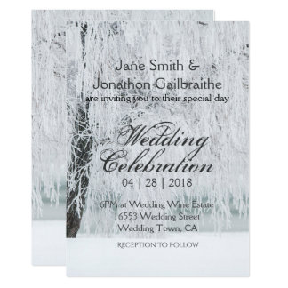 Discover Stunning Winter Wonderland Wedding Invitations For Any Occasion.  Designed By Independent Artists In A