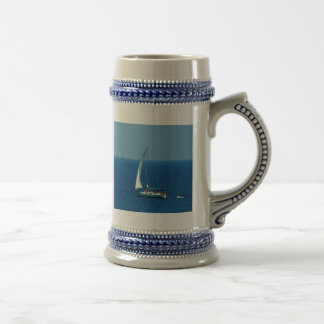 Beautiful Sailboat Beer Stein